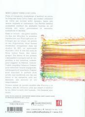 Sony Labou Tansi Paroles Inedites - 4ème de couverture - Format classique