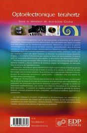 Optoélectronique térahertz - 4ème de couverture - Format classique