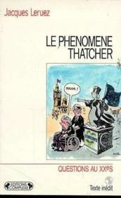 Le phenomene thatcher - Couverture - Format classique