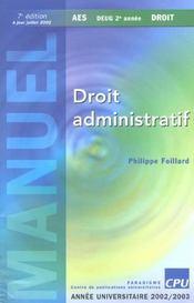 Droit Administratif - Intérieur - Format classique