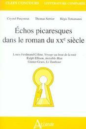 Echos Picaresques Ds Le Roman Du Xxe S. - Intérieur - Format classique