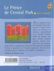 Le Prince De Central Park - 4ème de couverture - Format classique