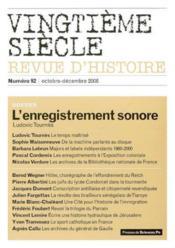 Revue Vingtieme Siecle N.92 - Couverture - Format classique