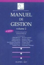 Manuel De Gestion Volume 2 2e Edition - Couverture - Format classique