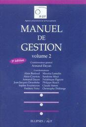 Manuel De Gestion Volume 2 2e Edition - Intérieur - Format classique