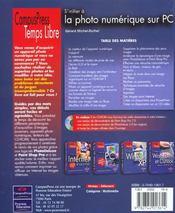 Temps Libre ; Photo Numerique Et Pc - 4ème de couverture - Format classique