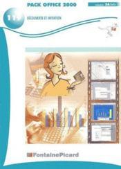 Pack office 2000 découverte et initiation - Couverture - Format classique