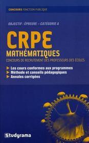 Crpe Mathematiques - Intérieur - Format classique