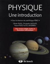 Physique ; une introduction - Intérieur - Format classique