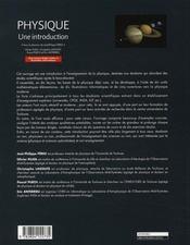 Physique ; une introduction - 4ème de couverture - Format classique