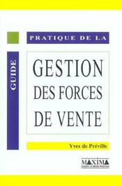 Gestion des forces de vente - Intérieur - Format classique