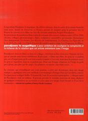 Paradjanov le magnifique - 4ème de couverture - Format classique