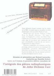 Intégrale des pièces radiophoniques t.1 ; rendez-vous avec la peur - 4ème de couverture - Format classique