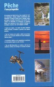Pêche, l'encyclopédie - 4ème de couverture - Format classique