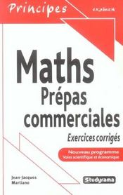 Mathematiques Prepas Commerciales ; Nouveau Programme; 6 - Intérieur - Format classique