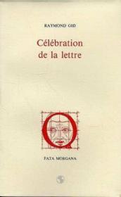 Celebration De La Lettre - Couverture - Format classique