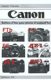 Canon boitiers d'hier pour photos d'aujourd'hui - Intérieur - Format classique