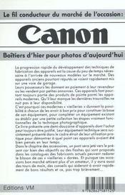 Canon boitiers d'hier pour photos d'aujourd'hui - 4ème de couverture - Format classique