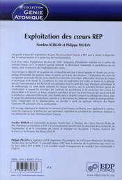 Exploitation des coeurs REP - 4ème de couverture - Format classique