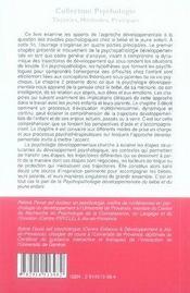 Psychopatologie développementale du bébé et du jeune enfant - 4ème de couverture - Format classique
