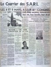 Courrier Des Sarl (Le) N°1 du 01/02/1950 - Couverture - Format classique