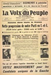 Voix Du Peuple De Touraine (La) N°1366 du 01/10/1967 - Couverture - Format classique