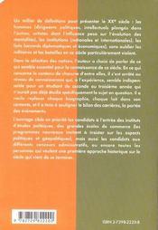Lexique Historique Du Xxe Siecle Classes Preparatoires Instituts D'Etudes Politiques Concours - 4ème de couverture - Format classique