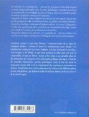 Le vocabulaire d'hannah arendt - 4ème de couverture - Format classique
