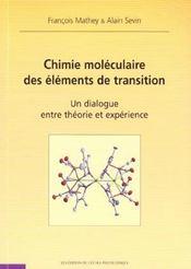 Chimie Moleculaire Des Elements De Transition - Intérieur - Format classique