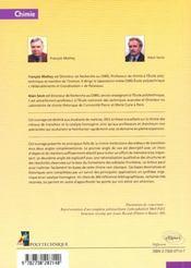 Chimie Moleculaire Des Elements De Transition - 4ème de couverture - Format classique