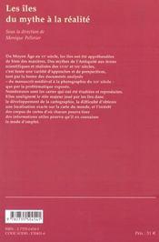 Les Iles, Du Mythe A La Realite - 4ème de couverture - Format classique