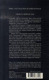 Crimes Au Bord De L'Eau - 4ème de couverture - Format classique