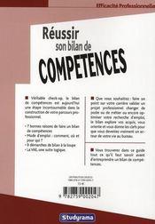 Reussir son bilan de competences 2 edt - 4ème de couverture - Format classique