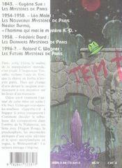 Les Futurs Mysteres De Paris T.9 ; Mine De Rien - 4ème de couverture - Format classique