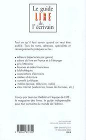 Le Guide Lire De L'Ecrivain - 4ème de couverture - Format classique