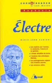 Electre - Sophocle - Intérieur - Format classique