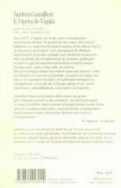 L'opèra de Vigàta - 4ème de couverture - Format classique