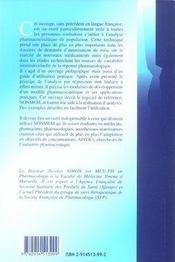 Pharmacocinétique de population ; introduction à nonmen - 4ème de couverture - Format classique