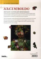 Le livre d'activités d'Arcimboldo - 4ème de couverture - Format classique