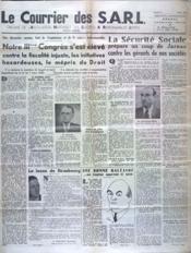 Courrier Des Sarl (Le) N°2 du 01/04/1950 - Couverture - Format classique
