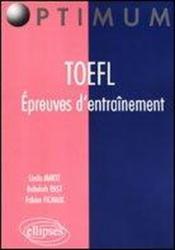 Toefl Epreuves D'Entrainement Anglais - Couverture - Format classique