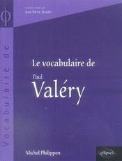 Le vocabulaire de paul valéry - Intérieur - Format classique