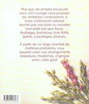 Des bouquets secs pour defier les saisons - 4ème de couverture - Format classique
