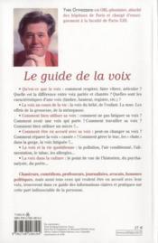 Le guide de la voix - 4ème de couverture - Format classique