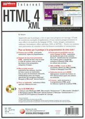 Micro app. html4 - xml - 4ème de couverture - Format classique