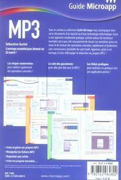 Mp3 - 4ème de couverture - Format classique