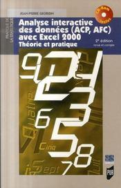 Analyse interactive des données avec excel 2000 ; théorie et pratique (2e édition) - Intérieur - Format classique