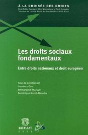 Les droits sociaux fondamentaux - Intérieur - Format classique