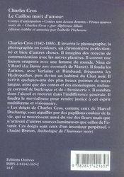 Le caillou mort d'amour - 4ème de couverture - Format classique