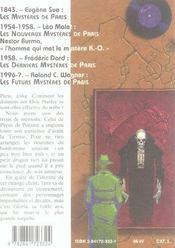 Les futurs mysteres de paris t.5 ; tekrock - 4ème de couverture - Format classique